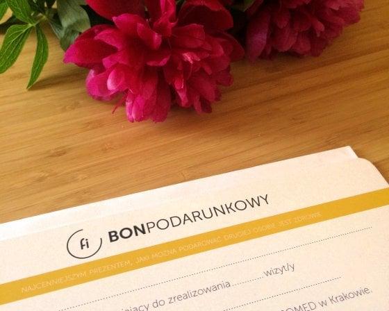 bon podarunkowy na zabiegi rehabilitacji