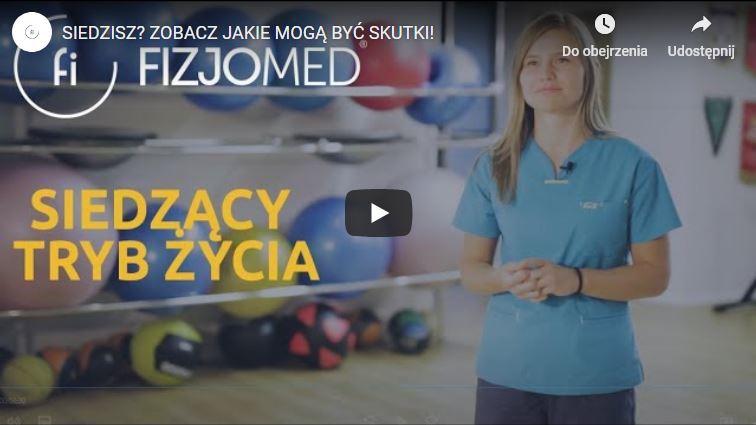 Poradnik dla osób z siedzącym tryb życia - przygotowała Katarzyna Proficz z Fizjomed
