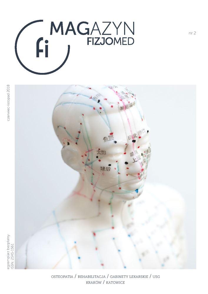 okładka magazynu fizjomed nr 2 promującego zdrowy styl życia