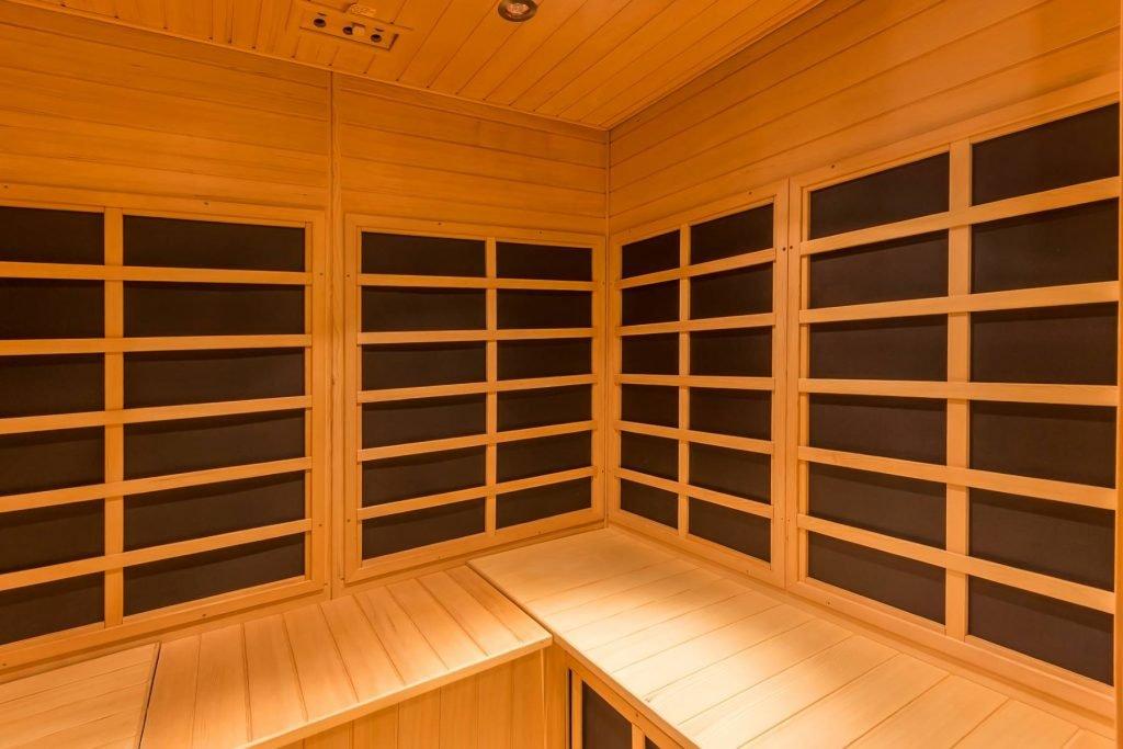 sauna z promieniowaniem podczerwieni
