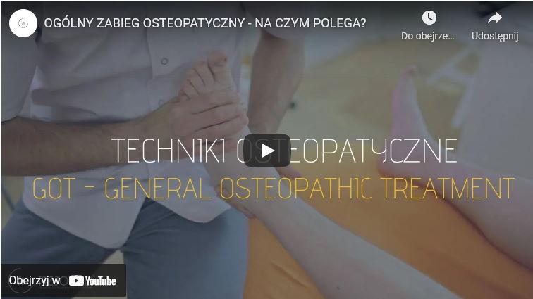 zabieg osteopatyczny ogólny