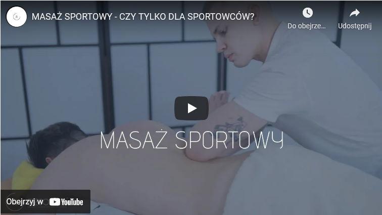 Sportowy masaż